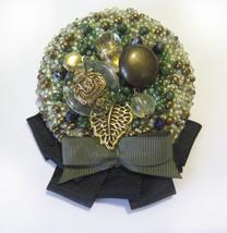 "Handmade Brooch ""Winner"" Pin Jewelry Ribbon Accessory - $73.00"
