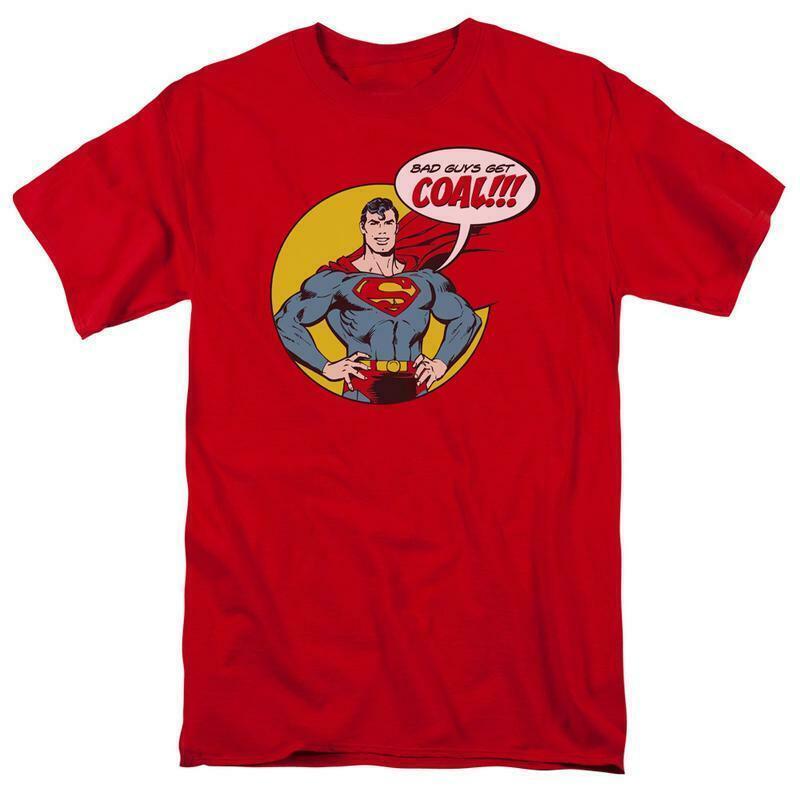 Superman t shirt bad guys dc comic book batman superhero christmas tee dco740