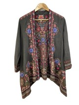 Johnny Was Frederique Draped Cardigan - Voltage Gray (J45919-1) Size MM... - $124.95