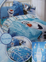 Disney Frozen Movie Olaf Blue Full Comforter Sheets Drapes 6PC Bedding Set New - $122.10