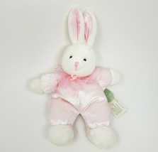 "10 "" Vintage Russ Berrie Wishlings Rose Bunny Rabbit Animal en Peluche Jouet Tag - $36.29"