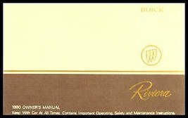 1980 Buick Riviera Owner's Manual - $5.69