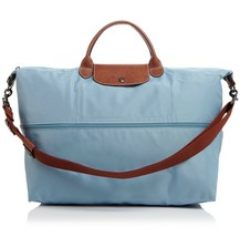New Longchamp Le Pliage Expandable Travel Duffle Weekender ARCTIC BLUE $... - $225.00