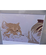 CAT & POT Art Signed Patterson 2008 Photography NM Southwestern USA - $28.50
