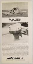 1967 Print Ad Johnson V-100 Outboard Motors 100 hp Waukegan,IL - $11.39