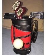 Golf Bar Set - Golf Bag, Golf Club Bar Tools 6 Pieces + Golf Bag Holder ... - $29.69