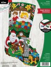 Bucilla Night Before Christmas Santa Dreaming Christmas Felt Stocking Ki... - $39.95