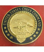 US ARMY AIR FORCE GI UNITED STATES CYBER COMMAND FULL SIZE ENAMELED I.D.... - $24.74