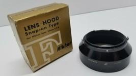 Vtg Nikon F Nikkor Camera Lens Hood Snap-on Type Nikkor-Auto 50mm f/1.4 ... - $24.18