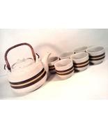 VINTAGE HAND CRAFTED OTAGIRI ORIGINAL  JAPAN TEA POT SET 6 CUPS STONEWAR... - $39.98