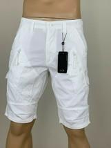 Armani Exchange Authentic Utility Zipper Detail Shorts White Nwt - $49.99