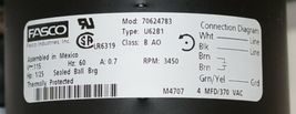 Fasco 70624783 Draft Inducer Blower Motor 115 Volt Thermally Protected image 4