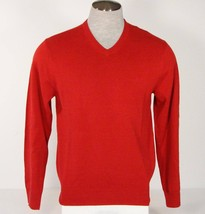 Izod V Neck Red Cotton Blend Knit Sweater Mens NWT - $37.49