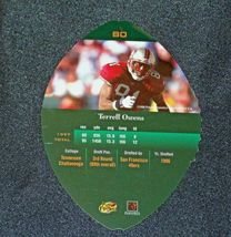 San Francisco 49er's Terrell Owens #81 WR Football Trading Cards AA-191804 Vinta image 9
