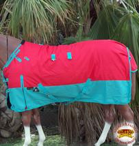 "66"" Hilason 1200D Poly Waterproof Turnout Winter Horse Blanket Red U-2-66 - $84.99"