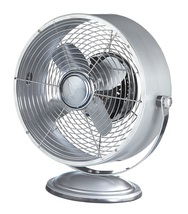 DecoBreeze Silver Metallic Retro Swivel Fan  DBF6160 - $75.00