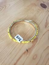 808 Yellow & Gold Bangles (New) - $8.58