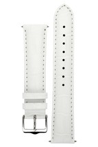 Signature Senator in white 20 mm short watch band. Replacement watch strap. Genu - $39.30