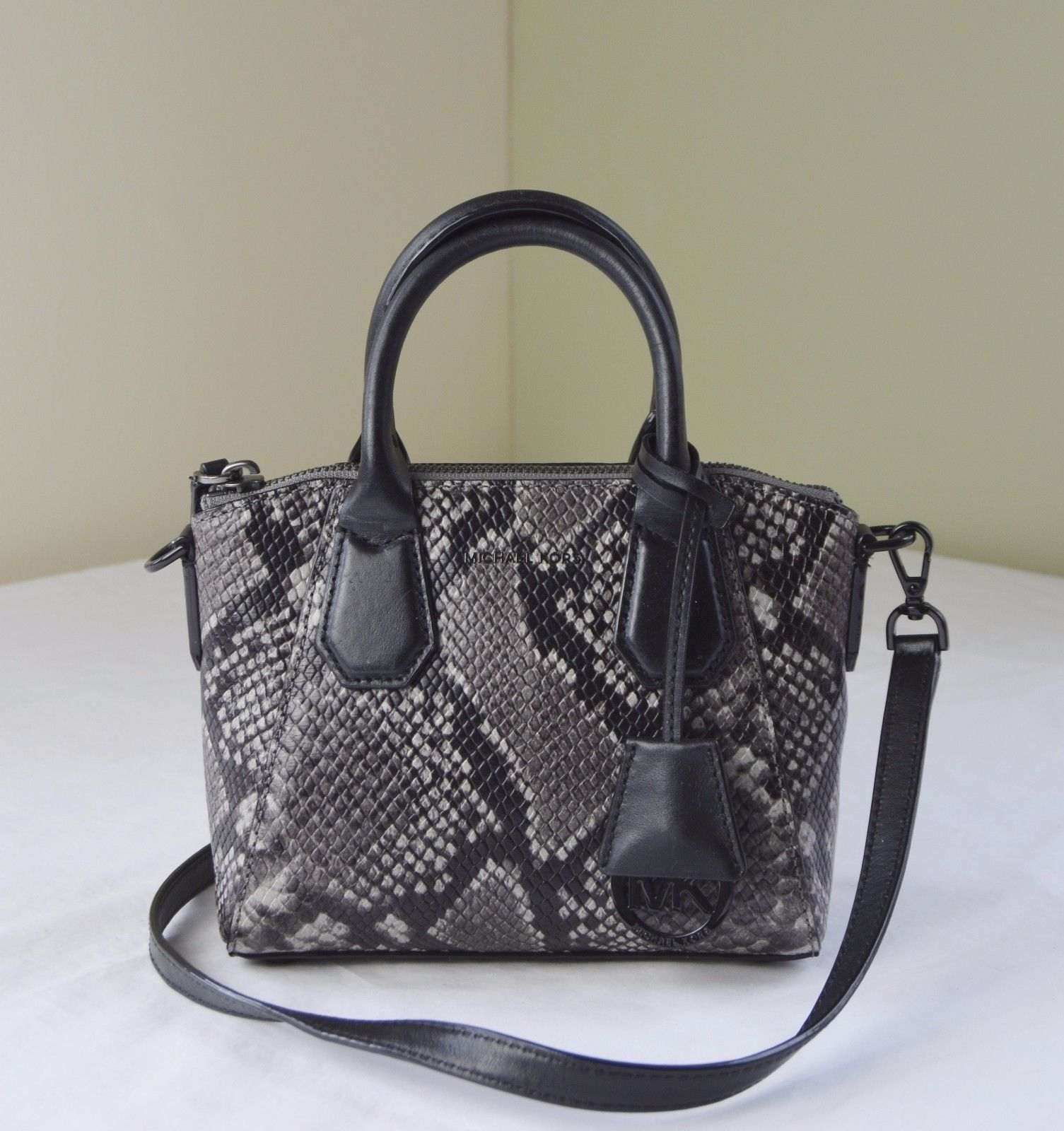 97271ee789c2 32. 32. Michael Kors Steel Grey Python Embossed Leather Campbell XS Satchel  Crossbody · Michael Kors ...