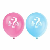 "Gender Reveal Baby Shower 8 Ct 12"" Latex Balloons - $3.16"