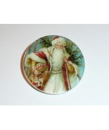 "Old Time Santa w/ Toys MOP Mother of Pearl Shank Button 1+3/8"" Christmas... - $11.87"