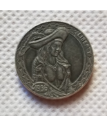 New Hobo Nickel Skull Sexy Viking Pirate Vintage Woman Girl Carved Caste... - $9.49