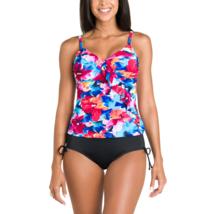 St. John's Bay Diagonal Ruffle Tankini Swim Top Size 8 Msrp $48.00 - $24.99