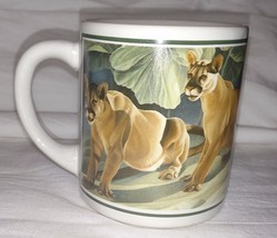 Vintage LIONS Coffee CUP 1987 Lioness MUG Good Company WILDLIFE 660766 L... - $13.17