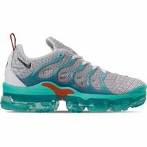Men's Nike Air VaporMax Plus Running Shoes White/Black/Aurora Green/Cosm... - $194.77