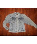 Mens Vintage Lee Riders Denim Jean Jacket ~ PATD-153483 ~ Stonewashed ~ USA - $84.80