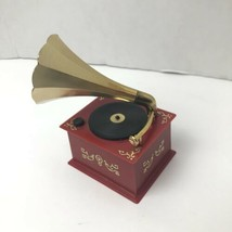 Vintage Phonograph Gramophone Music Box Made In West Germany Japan Motor... - $24.04