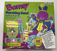 NEW Read Barney Dinosaur Marching Band Make & Play Kit Toy Crayola and Friends - $18.65