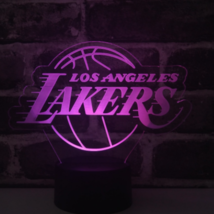 Los Angeles Lakers NBA Collectible Decor Night Light Touch Lamp- Men,Kid... - $19.79
