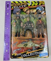 The Corps! Elite Triple Threat vs Curse 3 Figures, Helicopter Lanard Toy... - $9.00