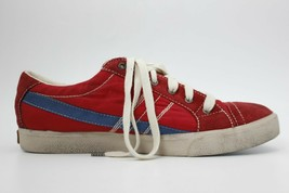 DIESEL D-String Low Womens Fashion Sneaker Red And Blue Fabric Size 9.5 ... - $103.94