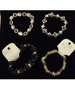 Beaded Bracelets Anklets Qty 12 stone Shell Base Metal - $24.85