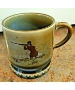 WADE Irish Porcelain Coffee Cup Mug Hunt Dog Green Retriever Hunting Ire... - $17.82