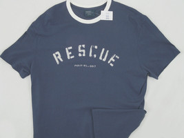NEW RARE Polo Ralph Lauren Vintage Rescue T Shirt! *4 Colors*  *Weathered Print* - $39.99