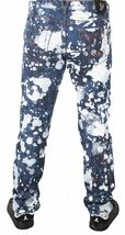 Versace Jeans Blue Bleached Denim White Paint Orange Speckle XXX Pants NWT image 4
