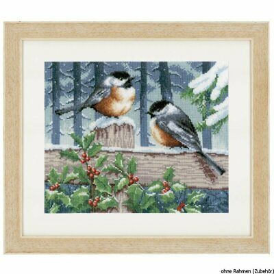 Primary image for Vervaco Blue Tits in Winter Counted Cross Stitch, Multi-Colour
