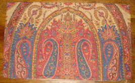 Pottery Barn Aurora Paisley Lumbar Pillow Cover Red Blue Tan Decorative ... - $34.62