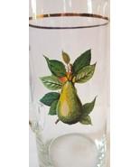 Vintage West Virginia Glass Fruit Motif Pitcher Approx, 50oz Gold Trim ... - $28.82