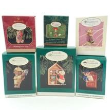 6 Club Mice Mouse Teddy Bear Vtg Christmas Tree Keepsake Ornaments Lot I... - $17.79