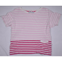 Womens Vineyard Vines White Pink Striped Short Sleeve Shirt Size XS - $14.69