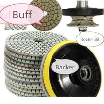 "1 1/4"" Full Bullnose shaping Diamond 30mm Router Bit Pad Buff Granite Co... - $86.17"
