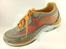 SH27 Dansko  EUR 38 US 7.5-8 Shayla Orange Gray Sneakers 4201242408 - $49.49