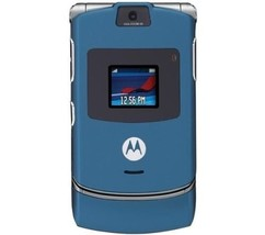 2018 ORIGINAL Motorola V3 Razr Blue 100% UNLOCKED 2G Mobile Phone WARRAN... - ₨2,622.66 INR