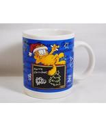 PAWS Garfield & Chalkboard Merry Christmas Seasons Greetings Coffee Mug ... - $9.89
