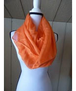 $34.00 Calvin Klein Crepe Infinity Loop Scarf, Apricot - $15.49