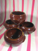 Charming Vintage 1950's Brownware Pottery Baked Bean or Soup Pots • USA ... - $12.00